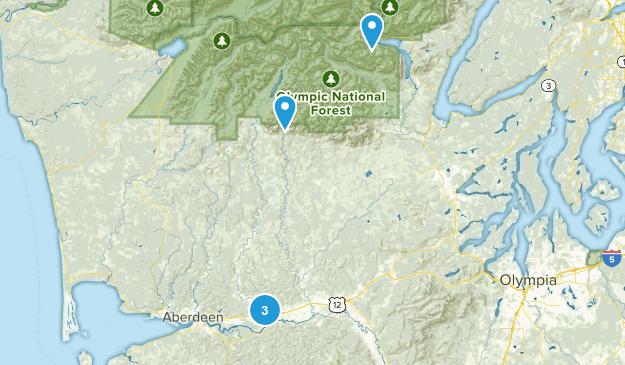 Montesano, Washington Dogs On Leash Map
