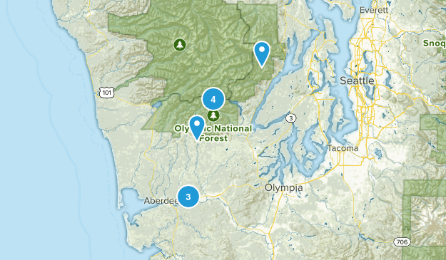 Montesano, Washington Hiking Map