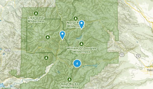 Naches, Washington Lake Map