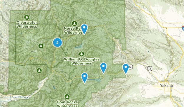 Naches, Washington Trail Running Map