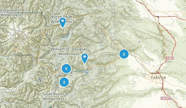 Naches, Washington Wild Flowers Map
