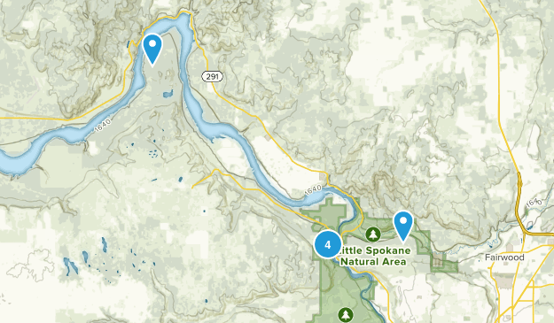Nine Mile Falls, Washington Birding Map