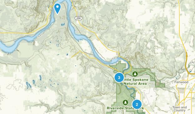 Nine Mile Falls, Washington Dogs On Leash Map