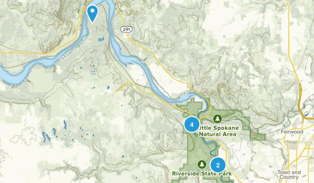 Nine Mile Falls, Washington River Map