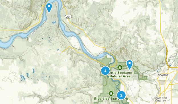 Nine Mile Falls, Washington Views Map