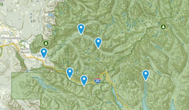 North Bend, Washington Backpacking Map
