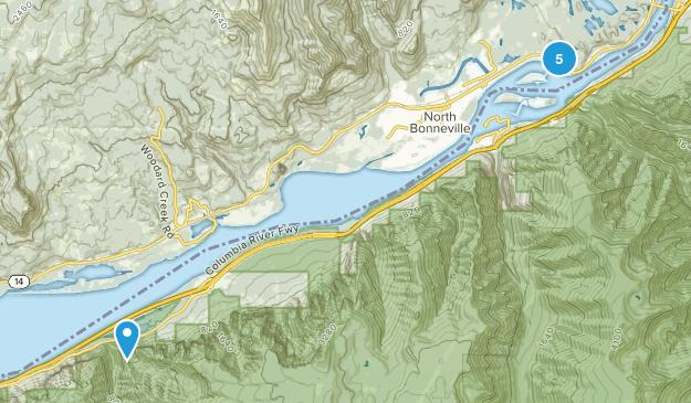 North Bonneville, Washington Forest Map