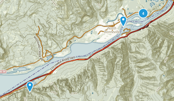 North Bonneville, Washington Nature Trips Map