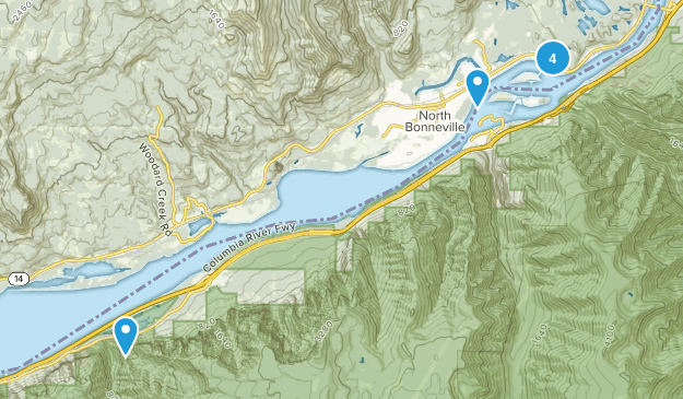 North Bonneville, Washington Walking Map
