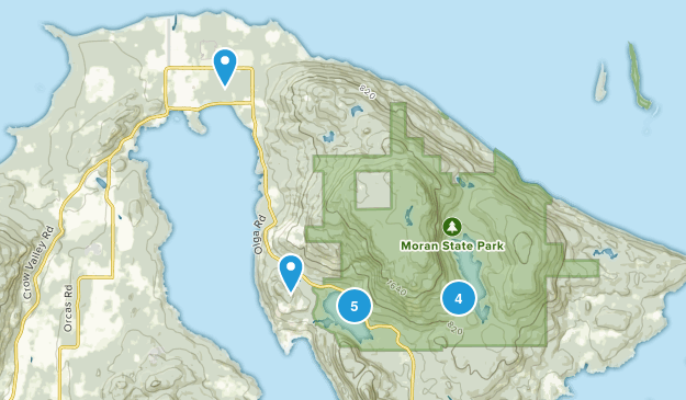 Olga, Washington Birding Map