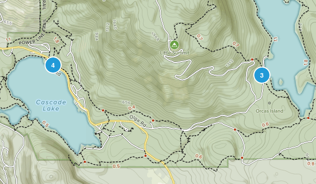Olga, Washington Lake Map