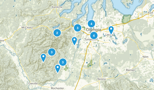 Olympia, Washington Dogs On Leash Map