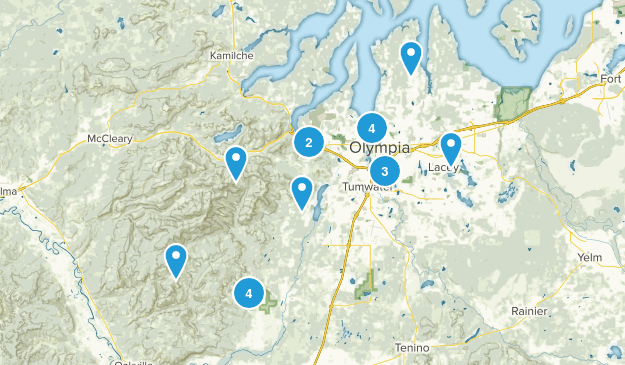 Olympia, Washington Trail Running Map
