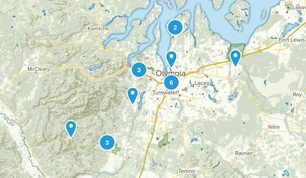 Olympia, Washington Walking Map