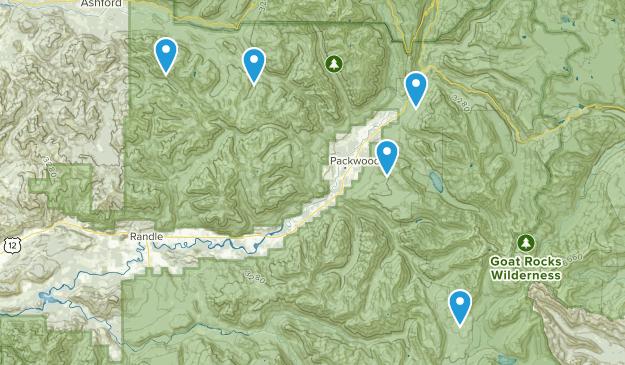 Packwood, Washington Dogs On Leash Map