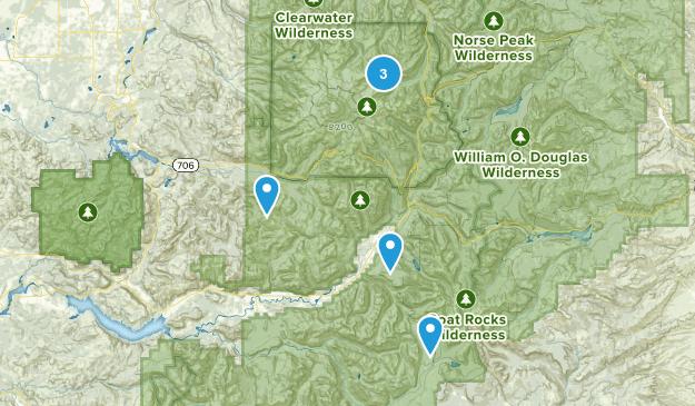 Packwood, Washington Trail Running Map