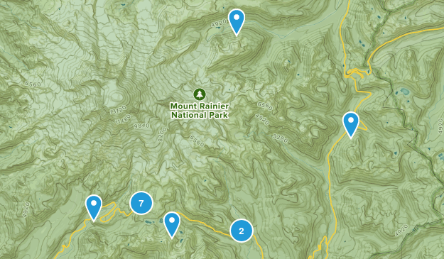 Paradise Inn, Washington Waterfall Map