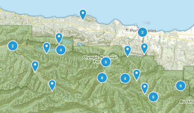 Port Angeles, Washington Birding Map