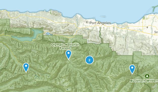 Port Angeles, Washington Fishing Map