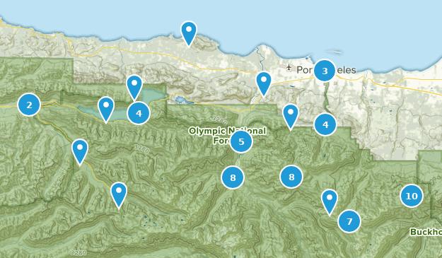 Port Angeles, Washington Hiking Map