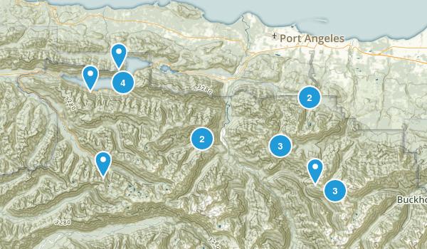 Port Angeles, Washington Lake Map