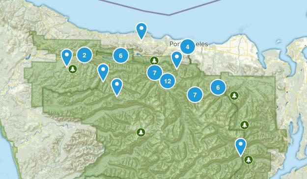 Port Angeles, Washington Nature Trips Map