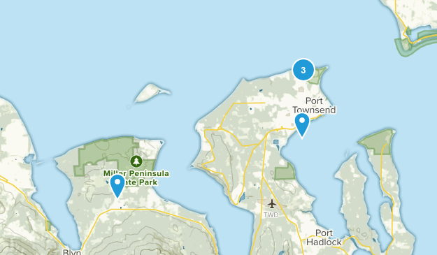 Port Townsend, Washington Hiking Map