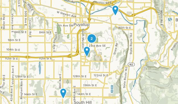 Puyallup, Washington Dogs On Leash Map