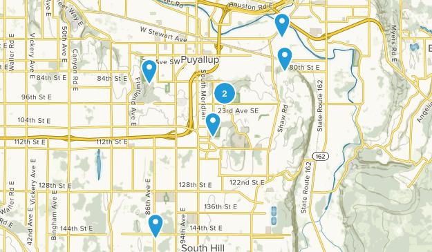Puyallup, Washington Hiking Map