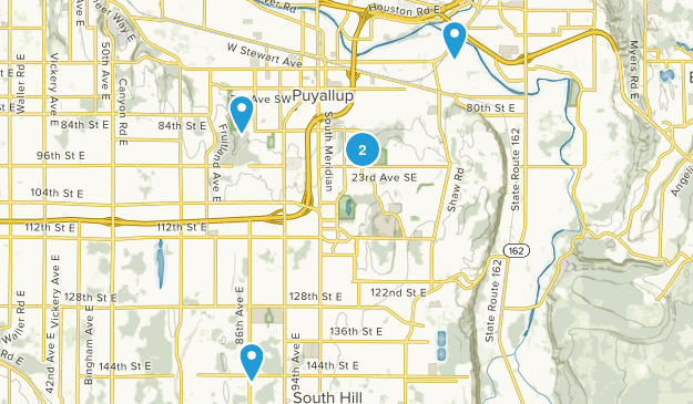 Puyallup, Washington Nature Trips Map