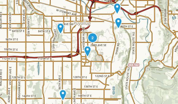 Puyallup, Washington Trail Running Map