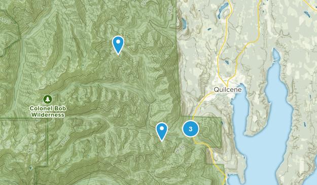 Quilcene, Washington Trail Running Map