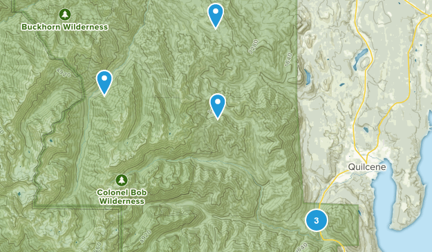 Quilcene, Washington Views Map