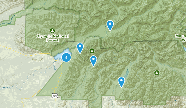 Quinault, Washington Hiking Map