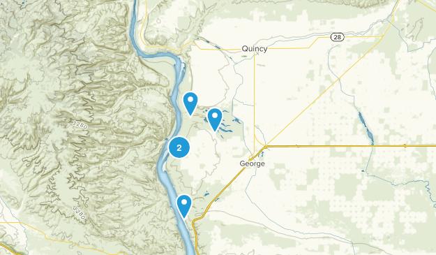 Quincy, Washington Hiking Map
