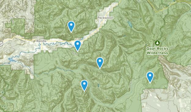 Randle, Washington Mountain Biking Map