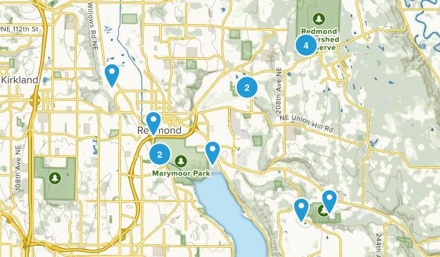 Redmond, Washington Nature Trips Map