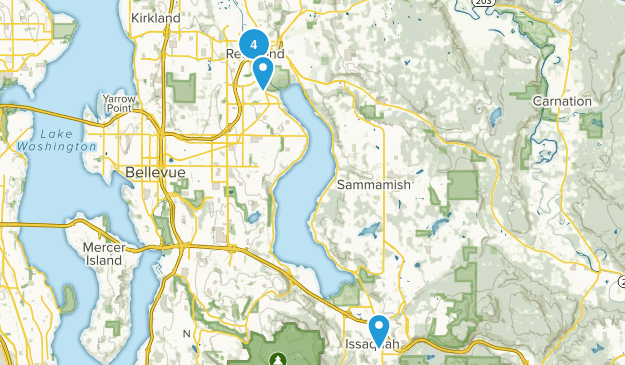 Redmond, Washington Road Biking Map