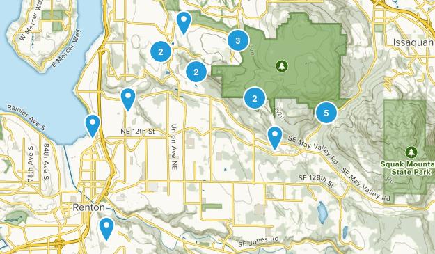 Renton, Washington Nature Trips Map