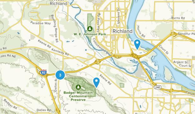 Richland, Washington Trail Running Map