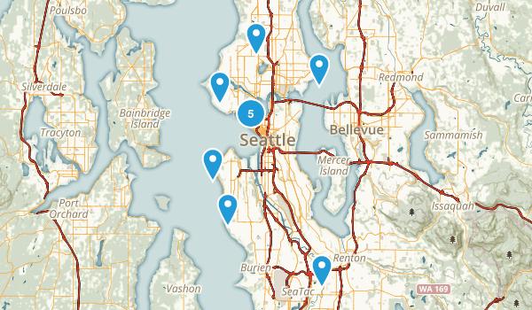 Seattle, Washington Wheelchair Friendly Map