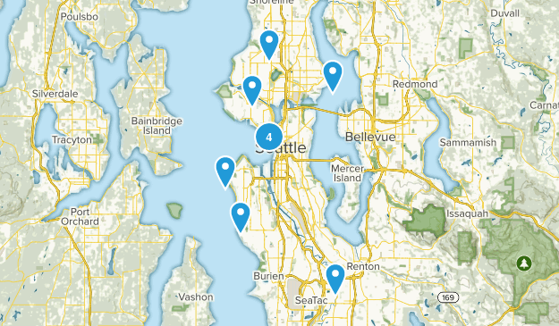 Seattle, Washington Wheelchair Friendly Map