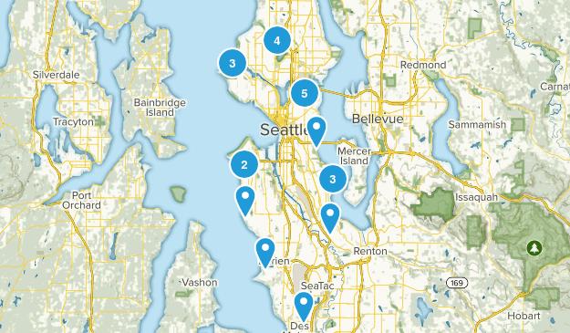 Seattle, Washington Forest Map