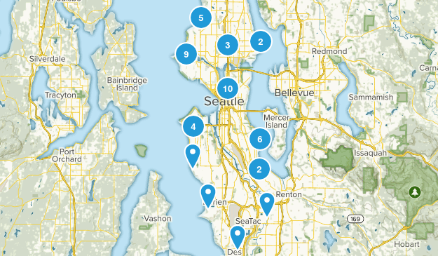 Seattle, Washington Hiking Map