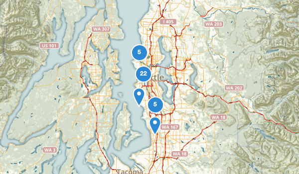 trail locations for Seattle, Washington