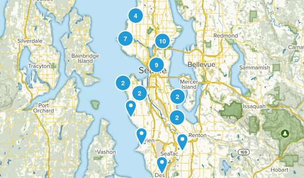 Seattle, Washington Kid Friendly Map