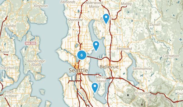 Seattle, Washington Lake Map