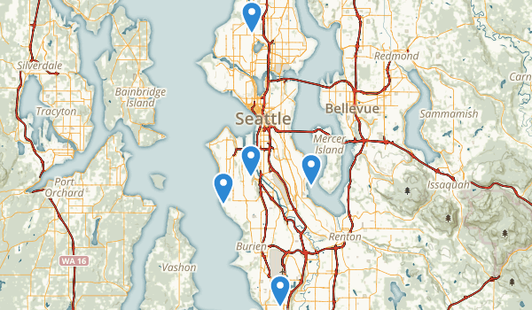 Seattle, Washington Mountain Biking Map