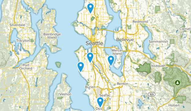 Seattle, Washington Mountain Biking Map