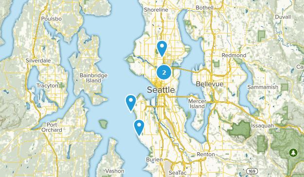Seattle, Washington Paddle Sports Map